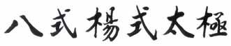 Yang Style Taiji 8 Forms